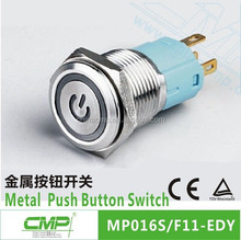Mounting diameter 16mm CMP stainless steel 1NO 1NC waterproof 24v led switch