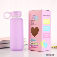 N223 2015 New Wholesale Glass Water Bottles with colorful