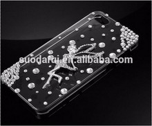 Pretty Ballet Girl Diamond transparent crystal cover case for iphone 6 4.7''