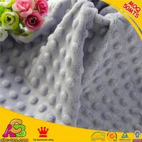 2015 hot sale high quality Oeko-tex 100 and SGS minky cuddle dimple dot
