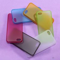 For iPhone 5C Case Crystal Clear Hard Plastic Back Cover