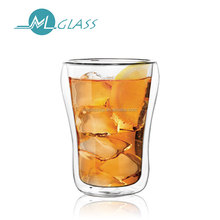 wholesale 200ml hand made double wall glass tea cup / double wall glass mugs / wine glasses N6308