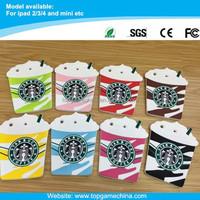 2015 luxury cases wholsale for iPad mini Starbucks coffee design case