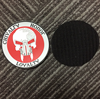 Soft 3D embossed rubber patch pvc badge silicone rubber badge with velcro backing