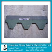 Colored Hexagonal Type Asphalt Roofing Shingle / Good Bitumen Roof One