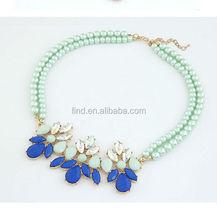 fashion pearl jewelry pendant choker necklace 2014 N015