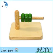Wooden Montessori Materials,Educational Wooden Toys Ring on a Horizontal Dowel