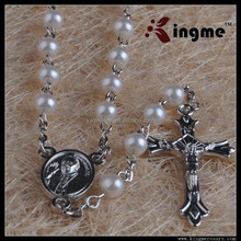 5mm Plastic Pearl Beads Rosary with Box of Catholicism