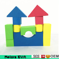 Melors EVA intelligence custom eva foam blocks Brain Development Toys 3D Brains Building Blocks eva Children Enlighten Brick