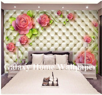 Guangzhou 3D Imitation leather decorative wall paper murals