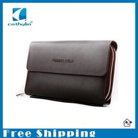 Men's Clutch Brand Bag Business Casual high-capacity PU Leather Handbags for Man Free Shipping Wholesale