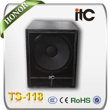 "ITC TS-118 400 Watt 8 ohm Bass Boom 18"" Disco Speakers Subwoofer Box from China"