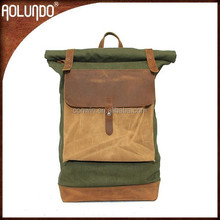 Invisible green canvas boys fashionable laptop bags