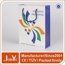 small colored CMYK printed shoping coated paper bags with handles