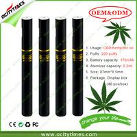 2015 new pen e-cigarette cbd oil/hemp cbd oil cbd atomizers/cbd oil vape Bud DS80 disposble e cig in stock