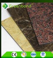 Greenbond waterproof marble acp colorful stone coated metal roofing sheet