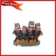 Halloween resin black cat dancing cat