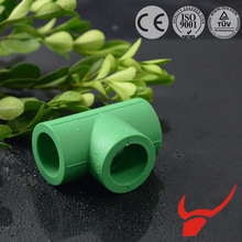 2015 hot sale material polypropylene PPR pipe fitting different colors equal tee