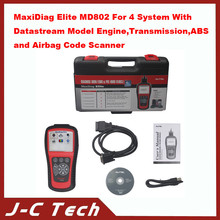 2015 MaxiDiag Elite MD802 For 4 System With Datastream Model Engine,Transmission,ABS and Airbag Code Scanner