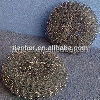 galvanized wire mesh scourer for pots pans grills stoves