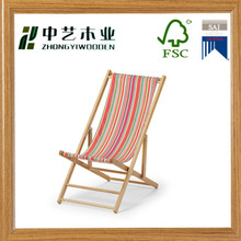 Hot sell unfinished solid pine Malibu color Beach Folding Chair wholesale