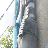 Wraparound Cable Repair sleeve with stainless steel locking channel