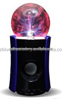 Magic Plasma Ball Mini Bluetooth Speaker with LED Light USB Port
