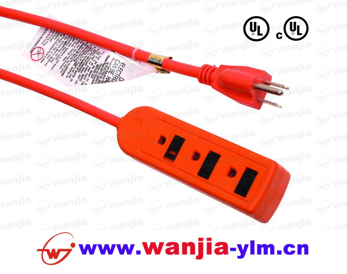 Outdoor Power Cable : Ul outlet power strip outdoor cord extension