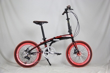"""high quality cheap red hybrid Folding Bicycles for sale with Alloy with quick release/20"""" aluminum folding frame"""