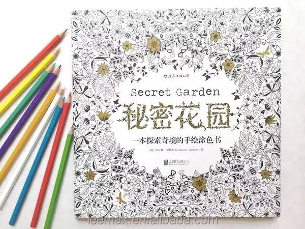 Wholesale Secret Garden Customized Coloring Book With