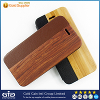 [NP-2388] Bamboo+PU Flip Phone Case Cover for iPhone 6