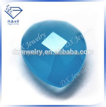 Sky blue pear double checkerboard cut glass loose stones