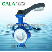 acid-resisting ptfe dn150 butterfly valve prices