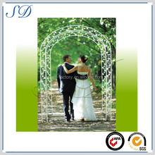 alibaba express Metal artistic garden arch with bench for outdoor wedding