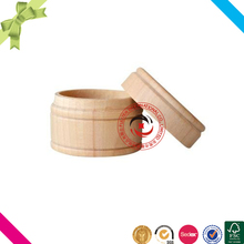 Popular unfinished wholesale round wood ring boxes