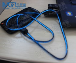 usb2.0 micro charging cable with visiable flowing led light