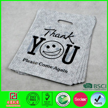 plastic cartoon gift shopping bags in d-cut custom made for shopping