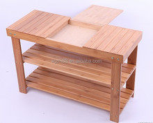 stylish 3 tier bamboo stackable shelf & shoe racks, bamboo morden furniture wholesale