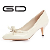 Global Selling Fashion Sexy Light Yellow Ladies High Heel Shoes