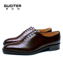 Pure manual character Men's shoes Real Animal Leather Dress Shoe