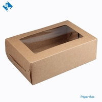 cake or dessert paper box bakery style boxes with window