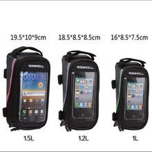 4.0/4.8/5.5 inch waterproof bike frame top tube bag bicycle bag mountain bicycle accessories touchscreen phone bag