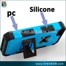 heavy duty silicon pc rubber skin case for iphone 5