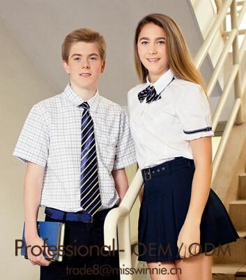 angleterre uniforme scolaire v tements ensemble filles chemisier blanc et bleu pliss genou jupe. Black Bedroom Furniture Sets. Home Design Ideas