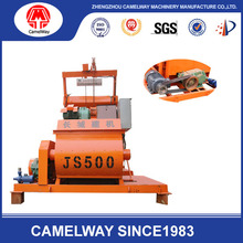 Hydraulic JS500 Concrete Mixer Machine /Concrete Mixer with Hopper