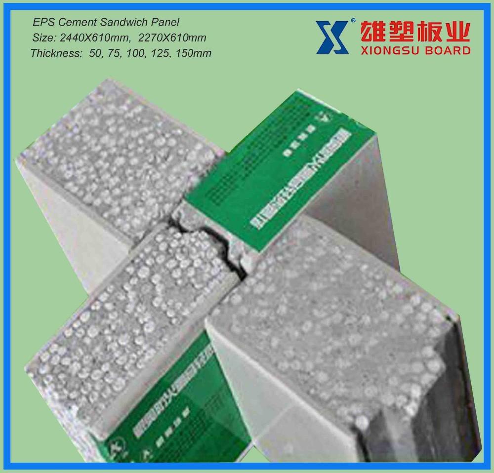 Lightweight Eps Sandwich Panel : Lightweight fireproof eps concrete sandwich wall panel for