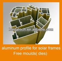 6063 T5 jiangsu haida brand powder coated aluminum profile for solar panels frame