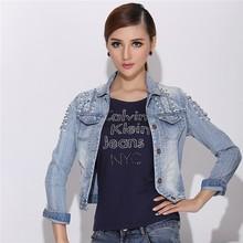 SFW712 Fashion 2015 Autumn Vintage Women's Jeans Loose Denim Jacket Lady Short Jean Jacket For Women Outwear