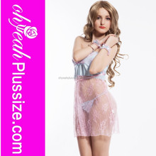 Hot sale plus size pink mature lingerie sexy babydoll