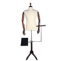 whithout head adjustable mannequinwooden arm female wholesale base mannequin